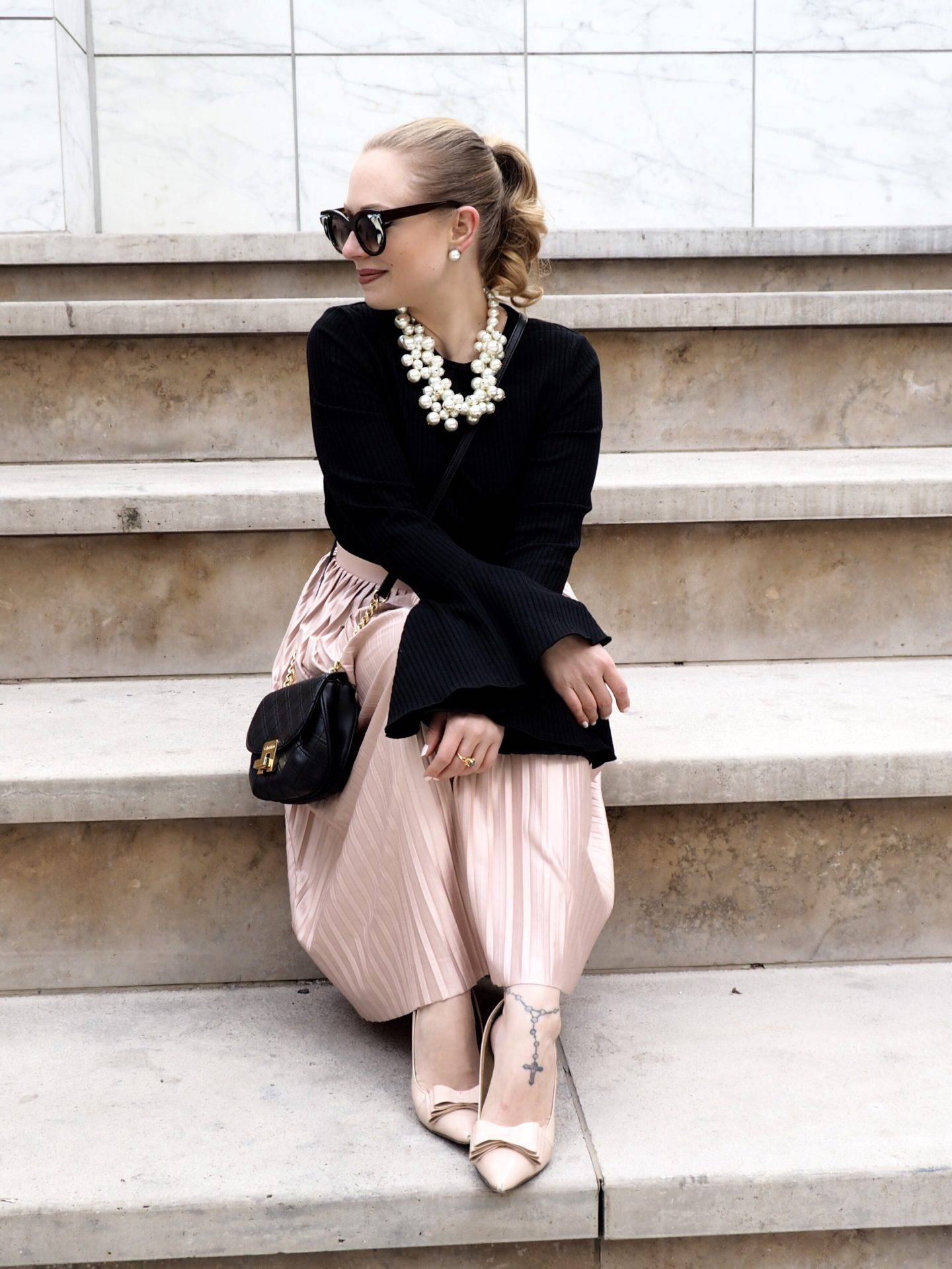 Bell Sleeves & Blush Tones
